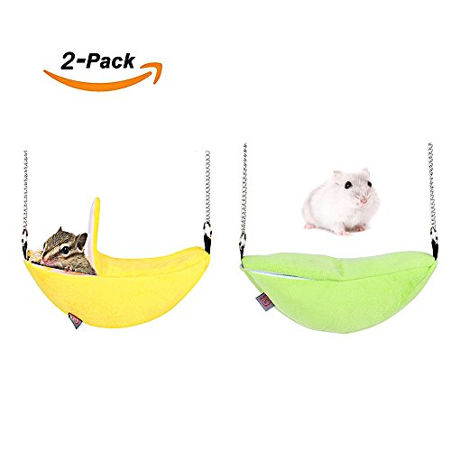 2-Pack-of-Hamster-Bedding-Sugar-Glider-Cage-Accessories-Hammock-Hamster-House-Toys-for-Small-Animal-Sugar-Glider-Squirrel-Chinchilla-Hamster-Rat-Playing-Sleeping-0
