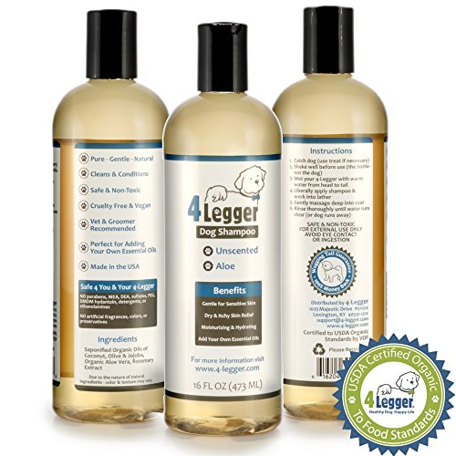 4-Legger-Certified-Organic-Hypoallergenic-All-Natural-Aloe-Dog-Shampoo-Unscented-Gentle-Moisturizing-Conditioning-for-Soothing-Relief-of-Dry-Itchy-Sensitive-Allergy-Skin-Made-in-USA-16-oz-0-0