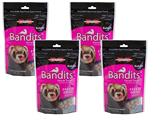 4-Pack-Marshall-Bandits-Freeze-Dried-Rabbit-Treats-for-Ferrets-0