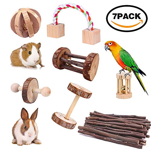 7pcs-Hamster-Chew-Toys-Natural-Wooden-Pine-Dumbells-Exercise-Bell-Roller-Teeth-Care-Molar-Toy-for-Rabbits-Rat-Guinea-Pig-and-Other-Small-Pets-Play-Toy-0
