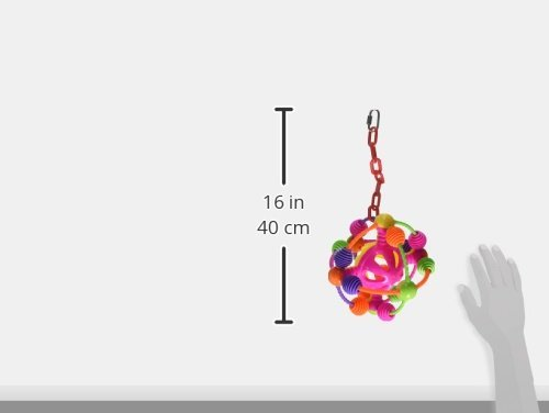 AE-CAGE-COMPANY-001110-Happy-Beaks-Space-Ball-on-a-Chain-Bird-Toy-Assorted-7X14-in-0-0