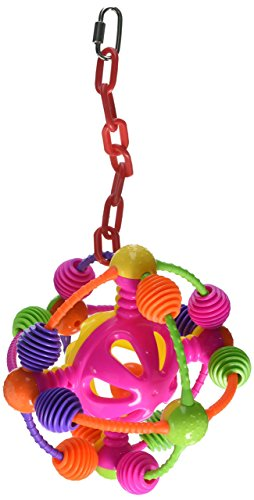 AE-CAGE-COMPANY-001110-Happy-Beaks-Space-Ball-on-a-Chain-Bird-Toy-Assorted-7X14-in-0