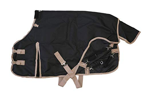 AJ-Tack-Wholesale-Pony-Horse-1200D-Turnout-Blanket-Rip-Stop-Water-Proof-Medium-Weight-0-0