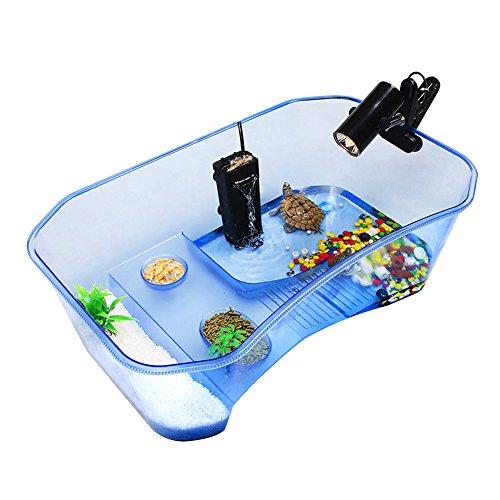 Accreate-Practical-Reptile-Turtle-Tortoise-Vivarium-Box-Aquarium-Tank-with-Basking-Ramp-0