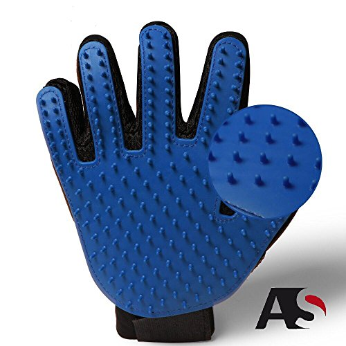 Advantage-Suppliers-Pet-Hair-Grooming-Glove-Gentle-Pet-Hair-Remover-Glove-Brush-Deshedding-Glove-Massage-Mitt-with-Upgraded-Five-Finger-Design-Perfect-for-Pets-with-Long-Short-Fur-1-Pack-0
