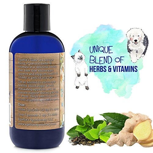 Agathas-Elixir-Prebiotics-for-Dogs–Appetite-Stimulant-for-Picky-Eaters-and-Senior-Pets–Green-Tea-Milk-Thistle-Boost-Immune-System-Liver-Detoxifier-0-1