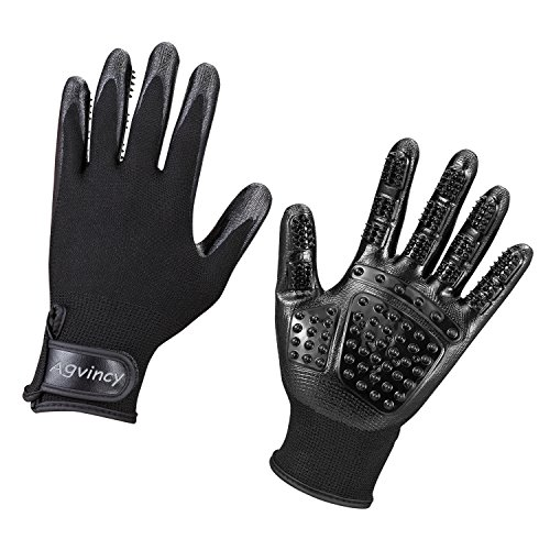 Agvincy-Pet-Grooming-Glove-Deshedding-Tool-Pet-Hair-Remover-for-DogsCats-and-Horse-1-Pair-Black-0