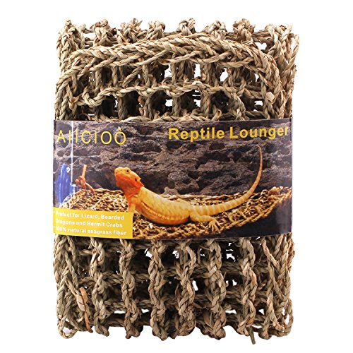 Aiicioo-Lizard-Hammock-Lounger-Bearded-Dragon-Hammock-100-Natural-Seagrass-Fibers-Ideal-for-Anoles-Bearded-Dragons-Geckos-Iguanas-Hermit-Crabs-X-Large-0
