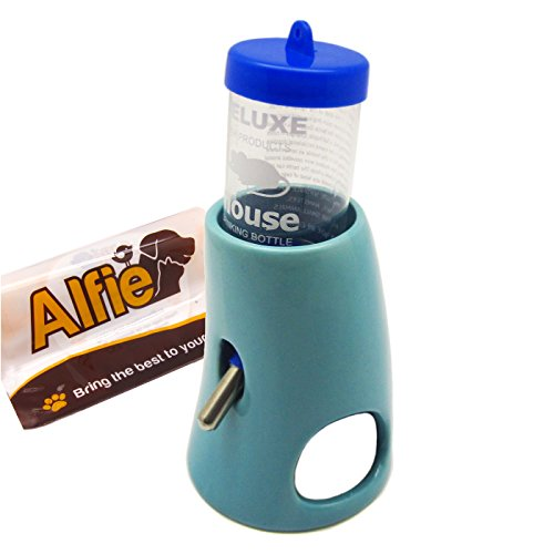 Alfie-Pet-by-Petoga-Couture-2-in-1-Water-Bottle-with-Ceramic-Base-Hut-for-Small-Animals-like-Dwarf-Hamster-and-Mouse-0