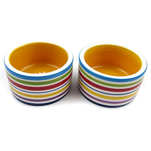 Alfie-Pet-by-Petoga-Couture-Seren-Ceramic-2-Piece-Set-Food-and-Water-Water-Bowl-for-Mouse-Chinchilla-Rat-Gerbil-and-Dwarf-Hamster-Color-Multi-Brown-0-1