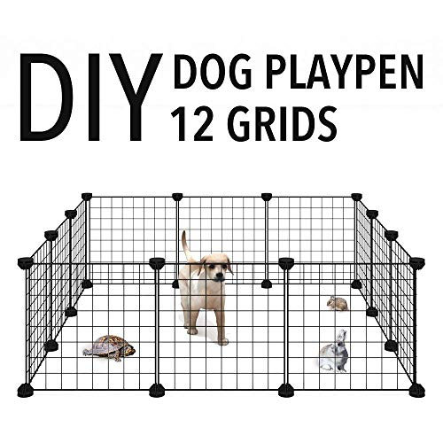 Allisandro-Pet-Rabbit-Bunny-Playpen-Small-Animal-Cage-Indoor-Portable-Yard-Fence-Guinea-Pigs-Puppy-Kennel-Crate-Fence-Tent-0