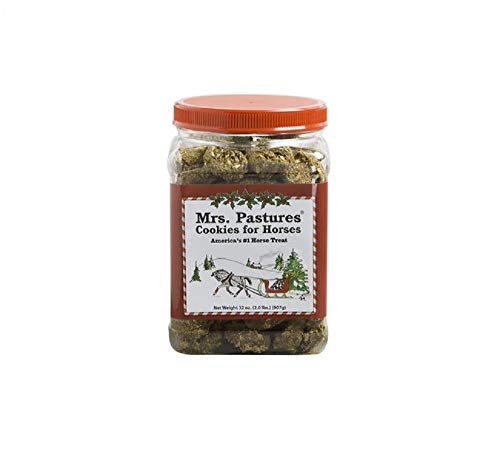 Americas-1-Treat-Mrs-Pastures-32-oz-Christmas-Jar-All-Natural-Horse-Pony-Cookies-Treats-0