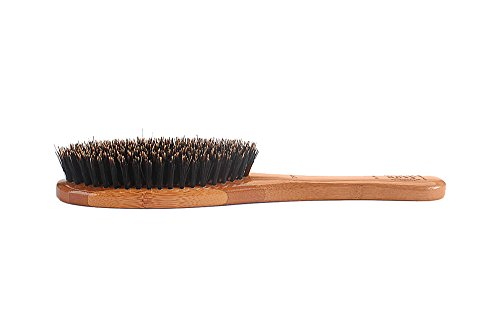 Bass-Brushes-Shine-Condition-Pet-Brush-Natural-Bristle-Pure-Bamboo-Handle-Full-Oval-Dark-Finish-Model-A14-DB-0-2