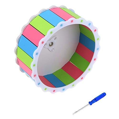 Best-Quality-Cages-Accessories-Colorful-Hamster-Mouse-Rat-Mice-Exercise-Running-Spinner-Wheel-Pet-Sports-Wheel-Roller-Toy-Dia-19cm-by-Viet-SC-1-PCs-0