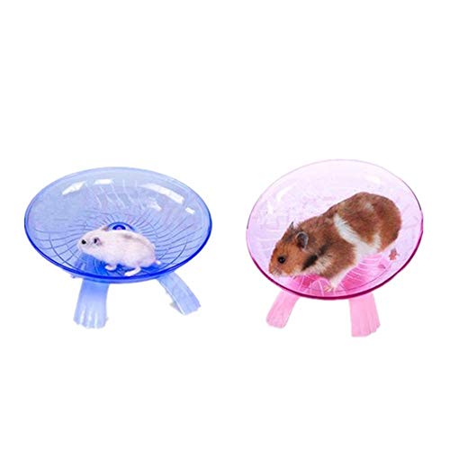 Best-Quality-Toys-Blue-Pink-Plastic-Small-Pet-Toy-Funny-Hamster-Mouse-Running-Disc-Flying-Saucer-Exercise-Wheel-Small-Animal-Jogging-Plate-Toys-by-Viet-SC-1-PCs-0-0
