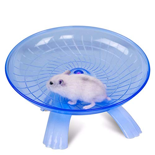 Best-Quality-Toys-Blue-Pink-Plastic-Small-Pet-Toy-Funny-Hamster-Mouse-Running-Disc-Flying-Saucer-Exercise-Wheel-Small-Animal-Jogging-Plate-Toys-by-Viet-SC-1-PCs-0-3