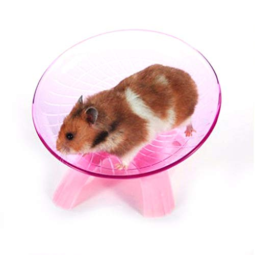 Best-Quality-Toys-Blue-Pink-Plastic-Small-Pet-Toy-Funny-Hamster-Mouse-Running-Disc-Flying-Saucer-Exercise-Wheel-Small-Animal-Jogging-Plate-Toys-by-VietRattan-1-PCs-0