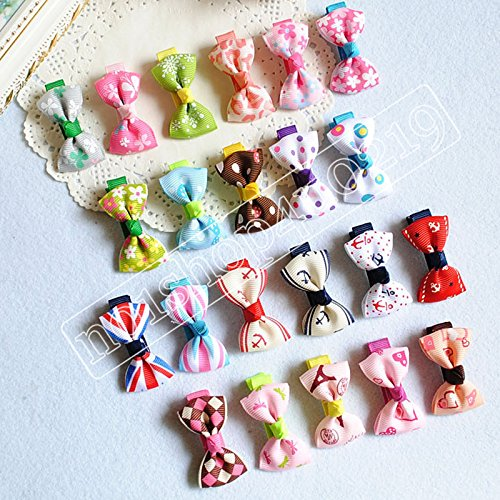 Blyyasgimulti-Color-Puppy-Dog-Cute-Hair-Bows-Hair-Clips-for-Pet-Grooming-0-2