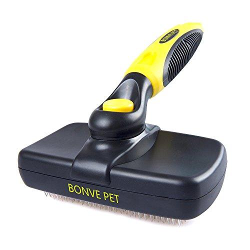 Bonve-Pet-LKGMS-001-Pet-Grooming-Brush-Self-Cleaning-Slicker-Brushes-Best-Shedding-Tools-BlackYellow-0