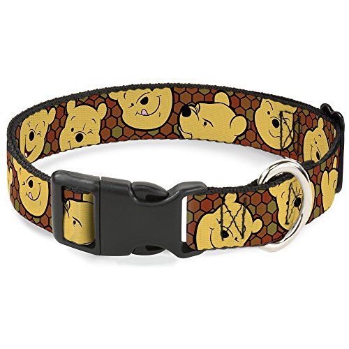 Buckle-Down-Breakaway-Cat-Collar-Winnie-The-Pooh-ExpressionsHoneycomb-BlackBrowns-0