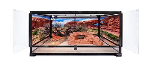 Carolina-Custom-Cages-Reptile-Habitat-Background-Double-Arch-with-Tree-for-72Lx24Wx36H-Terrarium-3-Sided-Wraparound-0-0