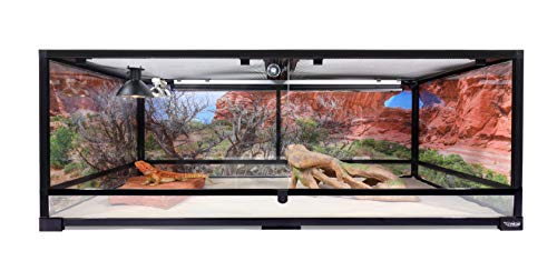 Carolina-Custom-Cages-Reptile-Habitat-Background-Double-Arch-with-Tree-for-72Lx24Wx36H-Terrarium-3-Sided-Wraparound-0-1