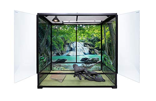 Carolina-Custom-Cages-Reptile-Habitat-Background-Rain-Forest-with-Waterfall-for-72Lx24Wx18H-Terrarium-Backside-ONLY-0-0