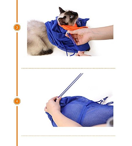 CatYou-Cat-Grooming-Bag-Puppy-Dog-Cleaning-Polyester-Soft-Mesh-Scratch-Biting-Resisted-for-Bathing-Injecting-Examining-Nail-Trimming-0-2