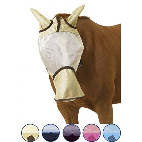 Centaur-Super-Fly-Fly-Mask-Long-Nose-SizeWarmblood-ColorIce-BlueNavy-0