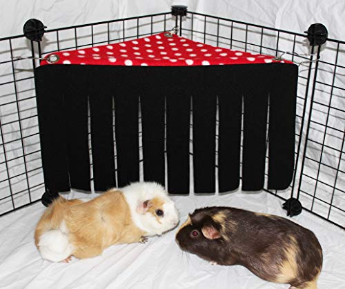 Corner-Fleece-Forest-Hideout-for-Guinea-Pigs-Ferrets-Chinchillas-Hedgehogs-Dwarf-Rabbits-and-Other-Small-Pets-0-1