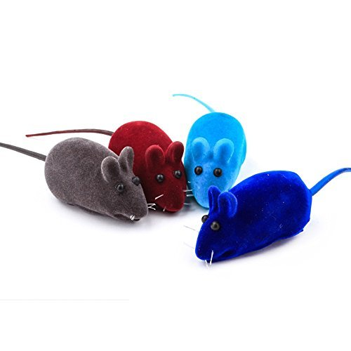 Dog-Cat-Playing-Toy-Squeak-Noise-Toy-Lovely-Rat-Toy-Mice-False-Mouse-Bauble-4PCS-Multi-colors-0