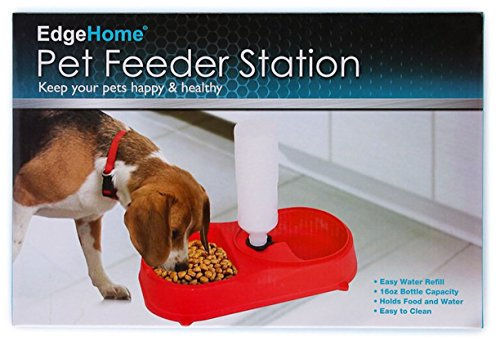 Edge-home-Pet-Feeder-Station-Dog-or-Cat-Food-Dish-and-Self-Watering-Water-Bowl-with-Bottle-0