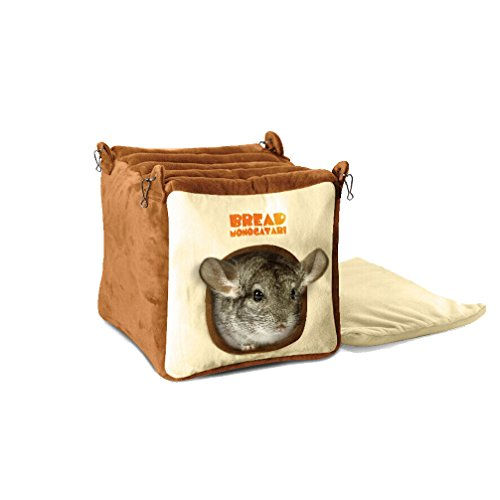 Emours-Small-Animal-Warmly-House-Cage-Hanging-Bed-with-Bed-Mat-for-Chinchilla-Guinea-pigs-Squirrel-and-Other-Similar-Size-Animals-Large-0
