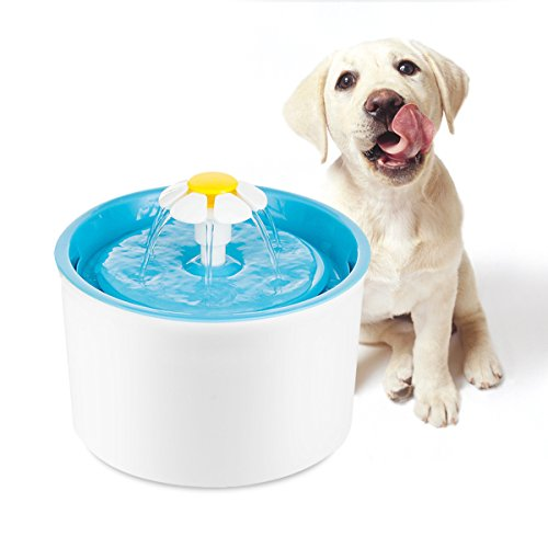 Enjoying-Flower-Fountain-Pet-Water-Fountain-with-Damp-Proof-Silicone-Pet-Food-Mat-for-Small-Medium-Dog-Cat-0