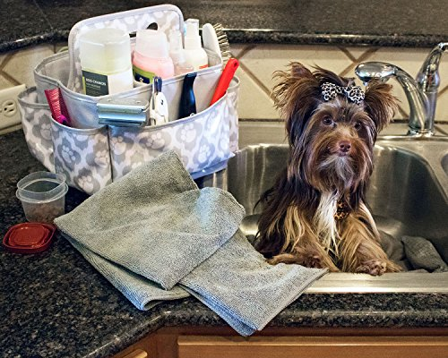 Everything-Mary-Pet-Essentials-Grooming-Caddy-Deluxe-Premium-Pet-Organizer-Storage-Tote-Bag-Bin-for-Dog-Wash-Shampoo-Accessories-0-0