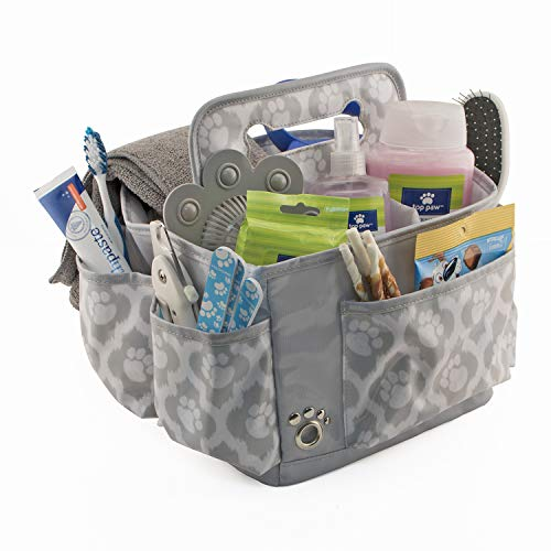 Everything-Mary-Pet-Essentials-Grooming-Caddy-Deluxe-Premium-Pet-Organizer-Storage-Tote-Bag-Bin-for-Dog-Wash-Shampoo-Accessories-0