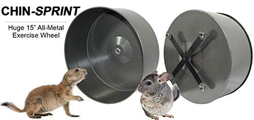 Exotic-Nutrition-15-Chin-Sprint-All-Metal-Exercise-Wheel-for-Chinchillas-Prairie-Dogs-Rats-Other-Small-Animals-0-1