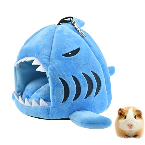 FLAdorepet-Cute-Shark-Guinea-Pig-Hamster-Bed-House-Hammock-Winter-Warm-Squirrel-Hedgehog-Chinchilla-House-Cage-Nest-Bed-Hamster-Accessories-0