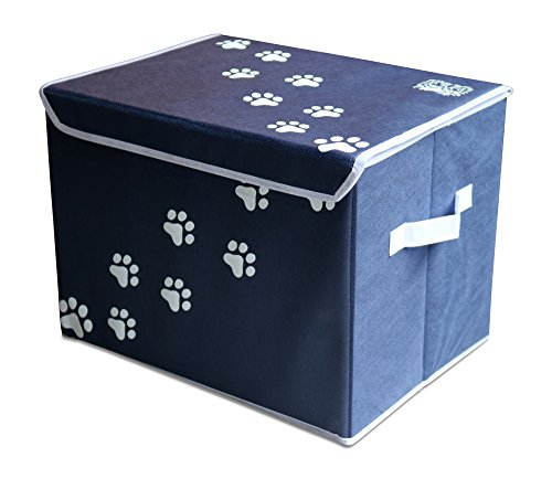 Feline-Ruff-Large-Dog-Toys-Storage-Box-16-x-12-inch-Pet-Toy-Storage-Basket-with-Lid-Perfect-Collapsible-Canvas-Bin-for-Cat-Toys-and-Accessories-Too-0-2