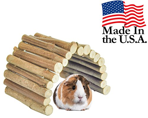 Flexible-All-Natural-Wood-Bridge-14-x-9-Inches-Extra-Large-Tunnel-and-Hideout-for-Guinea-Pigs-Ferrets-Chinchillas-and-Other-Small-Animals-0