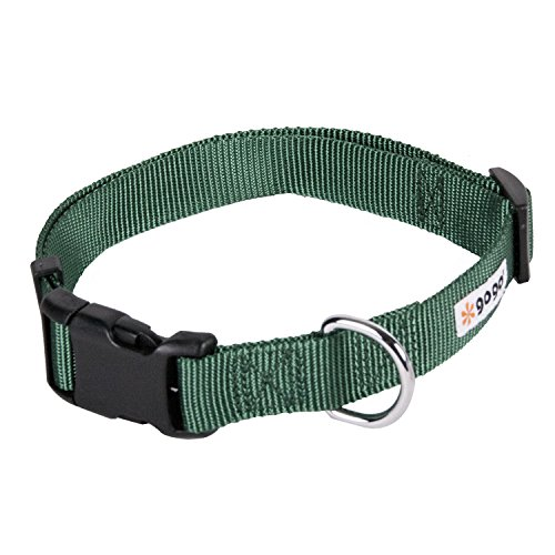 GoGo-Pet-Products-Comfy-Nylon-38-Inch-Adjustable-Pet-Collar-X-Small-Hunter-Green-0-0