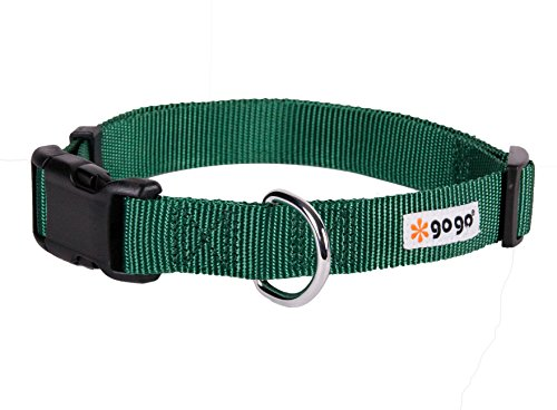 GoGo-Pet-Products-Comfy-Nylon-38-Inch-Adjustable-Pet-Collar-X-Small-Hunter-Green-0
