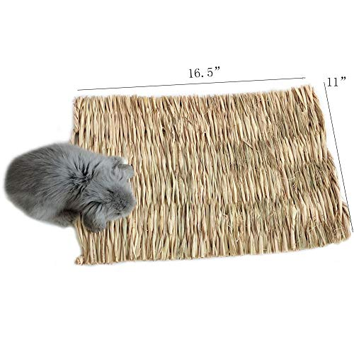 Grass-MatWoven-Bed-Mat-for-Small-AnimalBunny-Bedding-Nest-Chew-Toy-Bed-Play-Toy-for-Guinea-Pig-Parrot-Rabbit-Bunny-Hamster-Pack-of-3-0-0