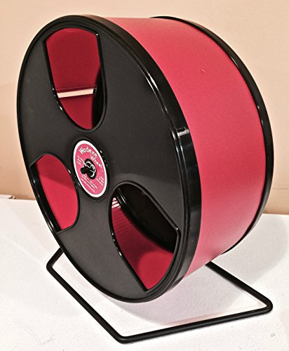 HEDGEHOGCHINCHILLA-EXERCISE-WIDE-TRACK-12-WODENT-WHEEL-IN-RED-WITH-BLACK-PANELS-0