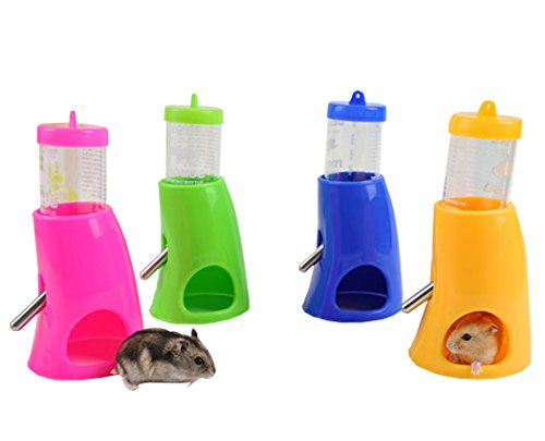 Hamster-One-Piece-Fountain-Water-Bottle-Holder-Dispenser-Food-Container-Cool-Room-Mice-Random-Color-0
