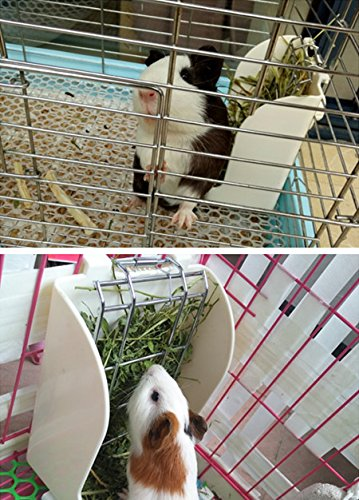 Hay-Feeder-Pet-Rabbit-Cage-Rack-Manger-Easy-Install-Less-Wasted-Free-Food-Dispenser-Clean-Dry-for-Guinea-Pig-Rabbits-Bunny-Chinchilla-0-2