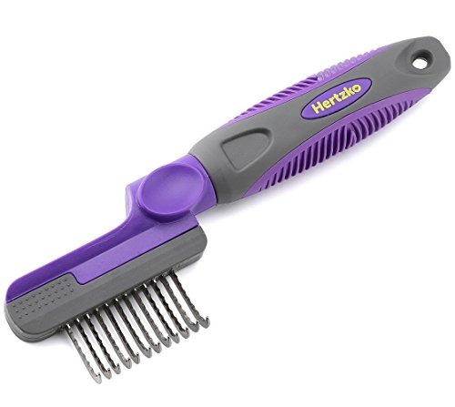 Hertzko-Rounded-Blade-Dematting-Comb-Round-Long-Blades-with-Safety-Edges-Great-for-Cutting-and-Removing-Dead-Matted-or-Knotted-Hair-0