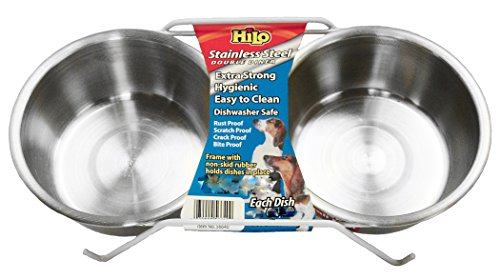 Hilo-Stainless-Steel-Double-Diner-Pet-Feeding-Dish-0