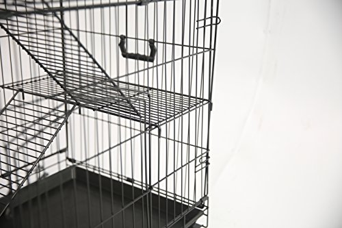 Homey-Pet-36-or-30-Black-Wire-Cat-Chinchilla-Ferret-Cage-wTray-and-Casters-0-0