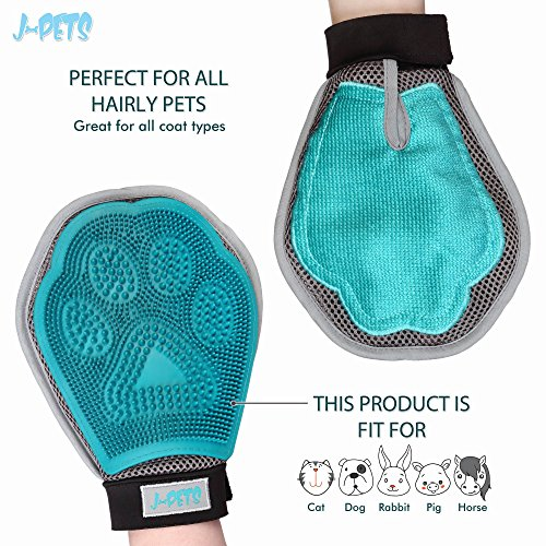 J-Pets-3-in-1-Pet-Grooming-Glove-Gently-Removes-Loos-Hair-Provide-Relaxing-Massage-Collect-Hair–Premium-Quality-Shedding-Tool-For-Dogs-Cats-Free-Bonus–Toothbrush-For-Pets-0-2